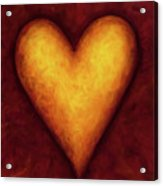 Heart Of Gold 4 Acrylic Print