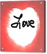 Heart Of Love Acrylic Print