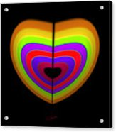 Heart Of Ochre Acrylic Print