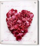 Heart Of Roses Acrylic Print