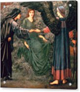 Heart Of The Rose Acrylic Print by Sir Edward Burne-Jones