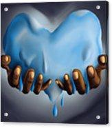 Heart Of Water Acrylic Print by Pierre Louis