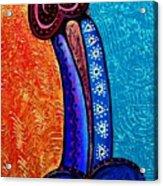 Heart On Painting Acrylic Print