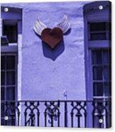 Heart On Wall Acrylic Print
