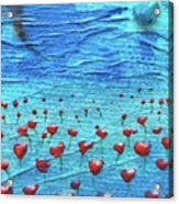 Heart Poppies Acrylic Print by Shawna Scarpitti
