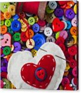 Heart Pushpin Chusion  Acrylic Print by Garry Gay