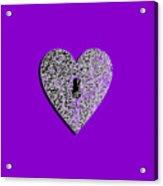 Heart Shaped Lock Purple .png Acrylic Print