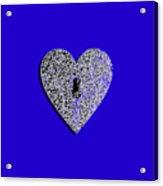Heart Shaped Lock .png Acrylic Print