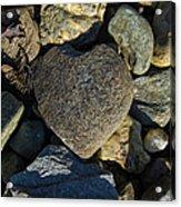 Heart Shaped Stone Loch Fyne  Acrylic Print