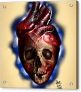 Heart Skull Acrylic Print
