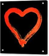 Heart - Symbol Of Love - Watercolor Painting Acrylic Print