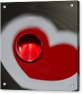Heart Throb Acrylic Print by Rebecca Cozart