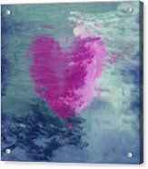 Heart Waves Acrylic Print
