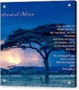 Heartbeat Of Africa Acrylic Print