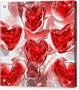 Hearts Afire Abstract Acrylic Print