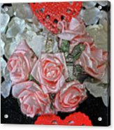 Hearts And Roses Acrylic Print