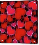 Hearts Collage Acrylic Print