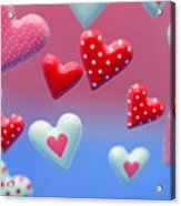 Hearts Hearts And More Hearts Acrylic Print