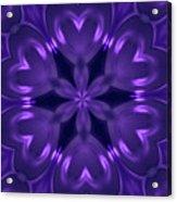 Hearts Of Purple Kaleidoscope Acrylic Print