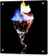 Hearts On Fire Acrylic Print