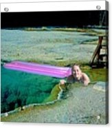 Heated Pool Acrylic Print