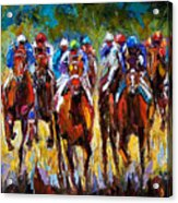 Heated Race Acrylic Print