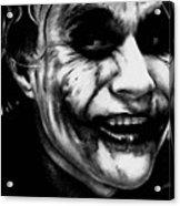 Heath Ledger Joker Acrylic Print