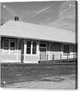 Heath Springs Railroad Depot Bw Acrylic Print
