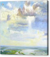 Heavenly Clouded Beauty Abstract Realism Acrylic Print