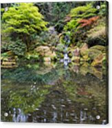Heavenly Falls And The Swirly Lower Pond Acrylic Print