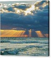 Heavenly Sunrise Panorama At Riviera Beach  Acrylic Print