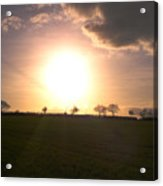 Heavenly Sunset Over Suffolk Acrylic Print