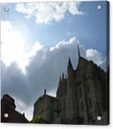 Heavens Above Mont St. Michel Abbey Acrylic Print