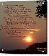 Heaven's Gain Acrylic Print