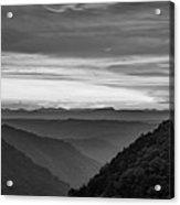 Heaven's Gate - West Virginia Bw Acrylic Print