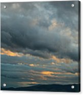 Heavy Clouds Over Mountains Acrylic Print