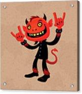 Heavy Metal Devil Acrylic Print by John Schwegel