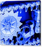 Heavy Metal In Blue Acrylic Print
