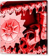 Heavy Metal In Red Acrylic Print