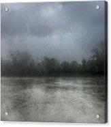 Heavy Rain Over A River Acrylic Print
