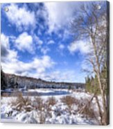 Heavy Snow At The Green Bridge Acrylic Print