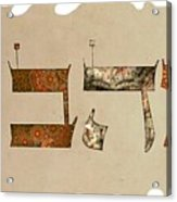 Hebrew Calligraphy-ahava Acrylic Print