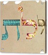 Hebrew Calligraphy- Eilat Acrylic Print
