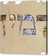 Hebrew Calligraphy- Jeremy Acrylic Print