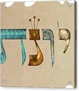 Hebrew Calligraphy- Jonatan Acrylic Print