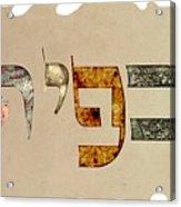 Hebrew Calligraphy- Kfir Acrylic Print