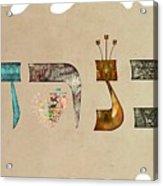 Hebrew Calligraphy- Kineret Acrylic Print