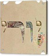 Hebrew Calligraphy- Yuri Acrylic Print