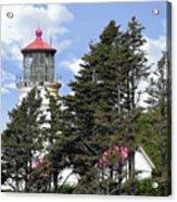 Heceta Head Lighthouse - Oregon's Iconic Pacific Coast Light Acrylic Print by Christine Till
