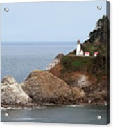 Heceta Head Lighthouse - Oregon's Scenic Pacific Coast Viewpoint Acrylic Print by Christine Till